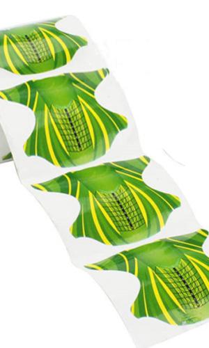 Формы для наращивания ногтей 1шт зеленые